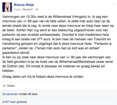 Beeldcitaat Facebook Bianca Meijs