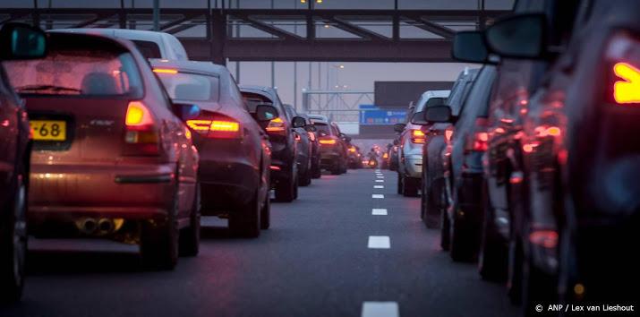 Veel vertraging op de weg door ongelukken.