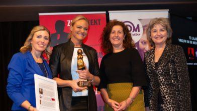 vlnr: Janneke van H, Janneke W, Ingrid van E. en Marga M.