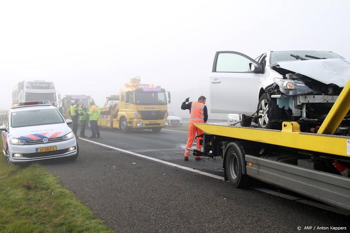 Ongevallen in het noorden door dichte mist.