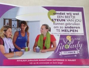 De flyer bij tien jaar Fit4Lady.