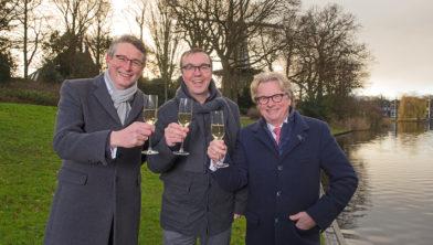 v.l.n.r.Axel de Groot, Arjan Groot en Eduard Pieter Oud