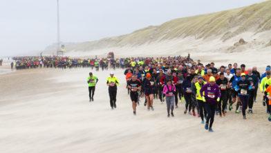 Voorgaande editie van de Halve Marathon van Egmond: dit keer zwaardere weersomstandigheden