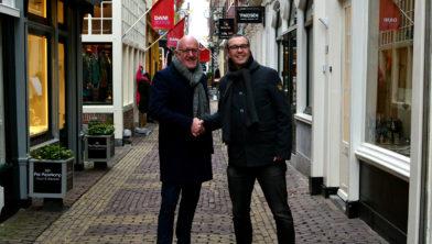 Ger Welbers van NH Media en Eduard Pieter Oud  van Alkmaar Marketing