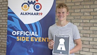 Snelste Alkmaarse scholier Thijs Hopman