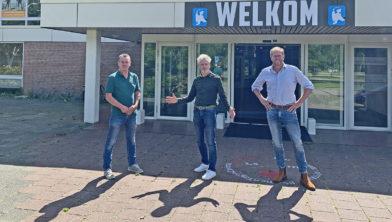 Vincent, Peter en Walter bij 't Vennewater in Heiloo