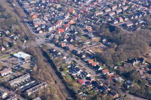 Luchtfoto Spoor OTweg, DrvDalelaan, Heidelaan, Hamburgerweg