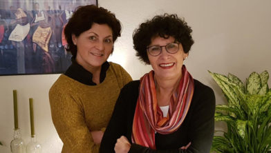 Coaches Yolanda Bos en Annette Marcelis.