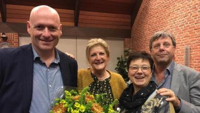 Gert Jan Brouwer, Herma van der Weide-van 't Hof, Monique van den Broek en Hans de Haan.