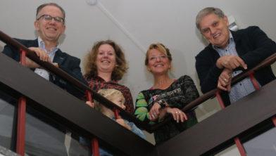 Ruud Kraan, Liesbeth Knol-Urbach, Frieda van Bruggen en Henk van Bruggen.
