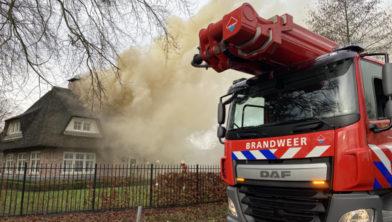 Zaterdag 11 januari was de Brandweer Ermelo nog uiterst slagvaardig bij een woningbrand aan de Harderwijkerweg.
