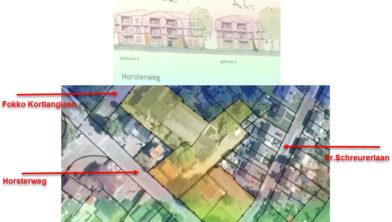 Het plangebied voor de woningbouwplannen.