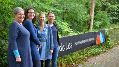 Nancy-Els de Jonge, Frederiek van der Meer, Nettie Holdermans-Janssen en Joëllen Jagersma.