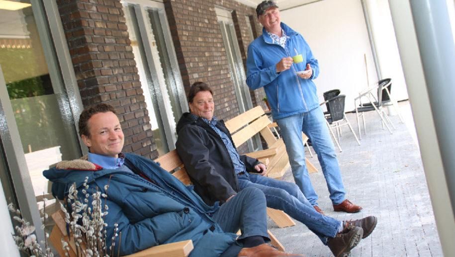 Arie Tempel, Ron Beugelsdijk en Ton de Kruijf.