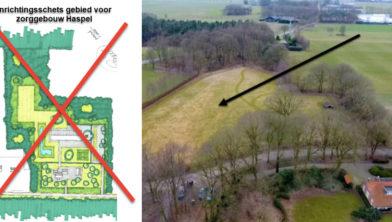 De beoogde locatie aan Rodeschuurderwegje.