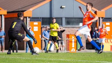 Lars van Wetering scoort de enige treffer voor FC Horst.