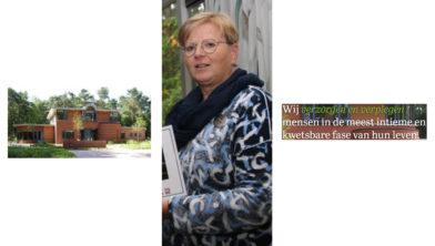 Laura Jansen, directeur van het Willem Holtrop Hospice.
