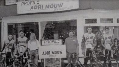 Edward Foppen, Robbert Wayer, Miss Brenda Swing Mill, Adri Mouw, Jan en Godert de Leeuw.
