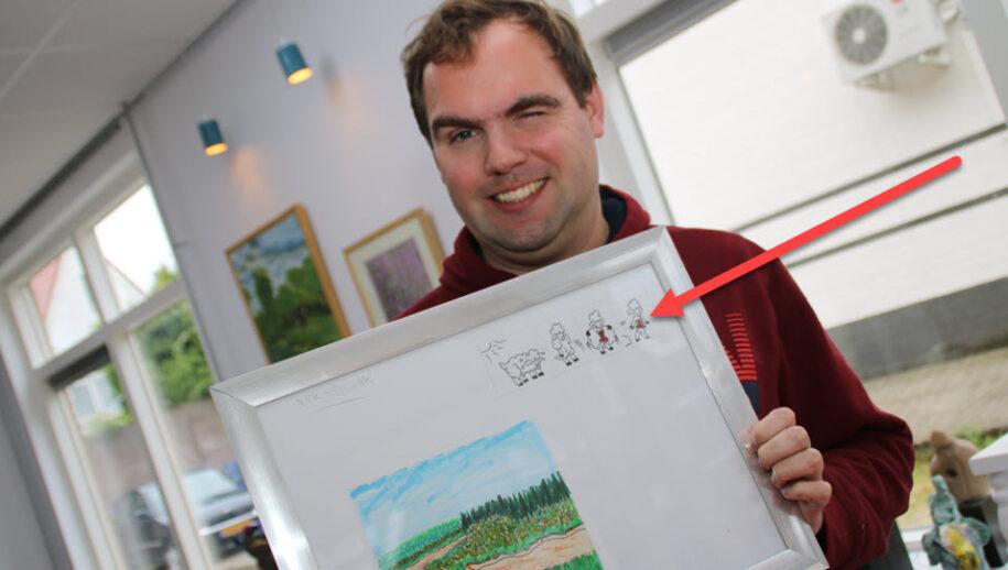 Kunstenaar Niek Stegink.