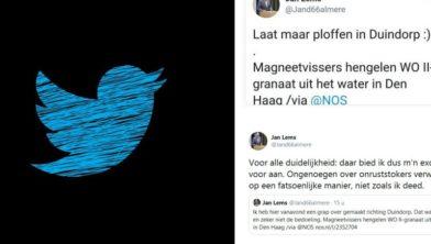 Screenshot van Tweets Jan Lems (D66)