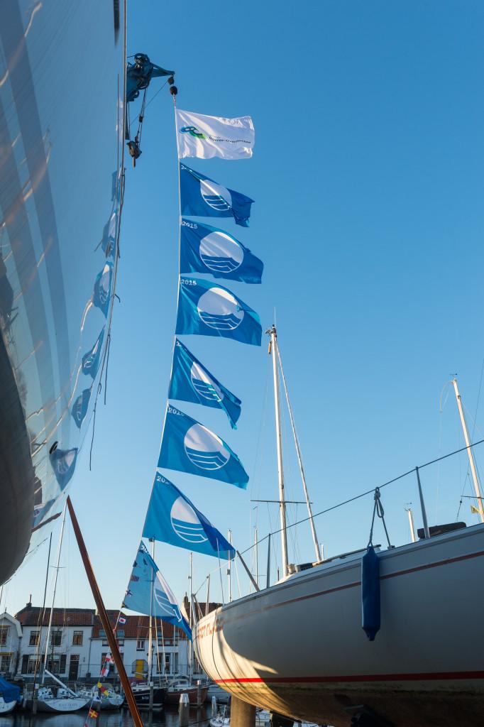 Blauwe vlaggen
