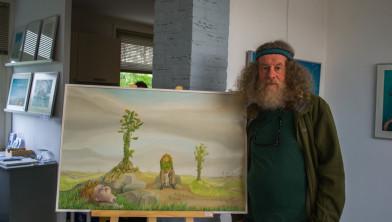 Joep Luijckx met zijn werk