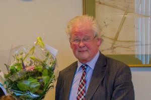 Wethouder Koningswoud vorige week bij een prijsuitreiking