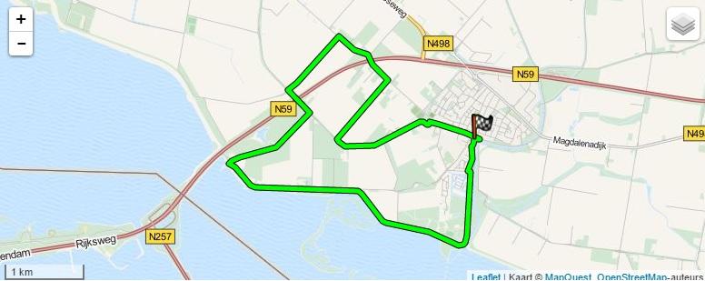 Route Oude-Tonge