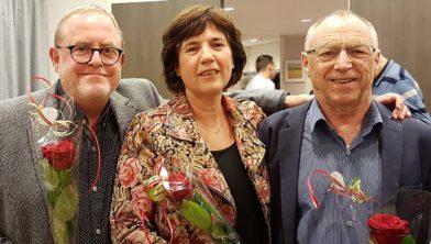 Archieffoto: De drie raadsleden van de PvdA
