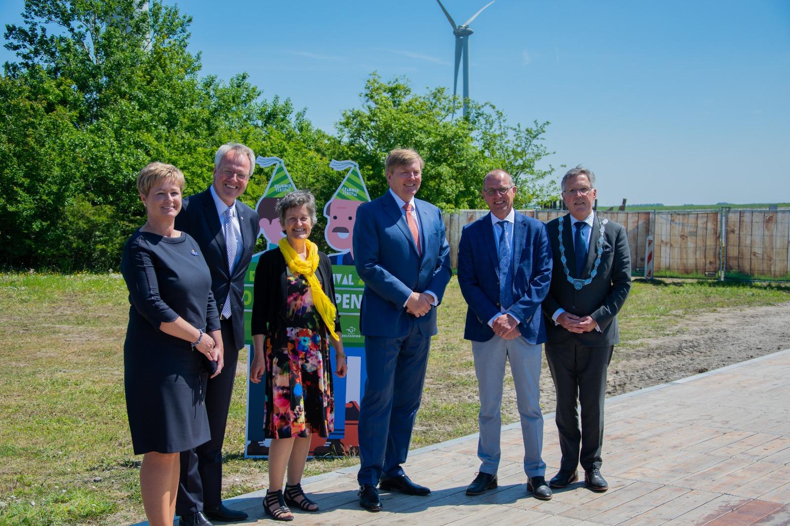 Opening Windpark Krammer door Koning Willem-Alexander