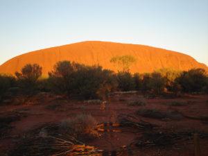 Ayers Rock bij zonsopkomst