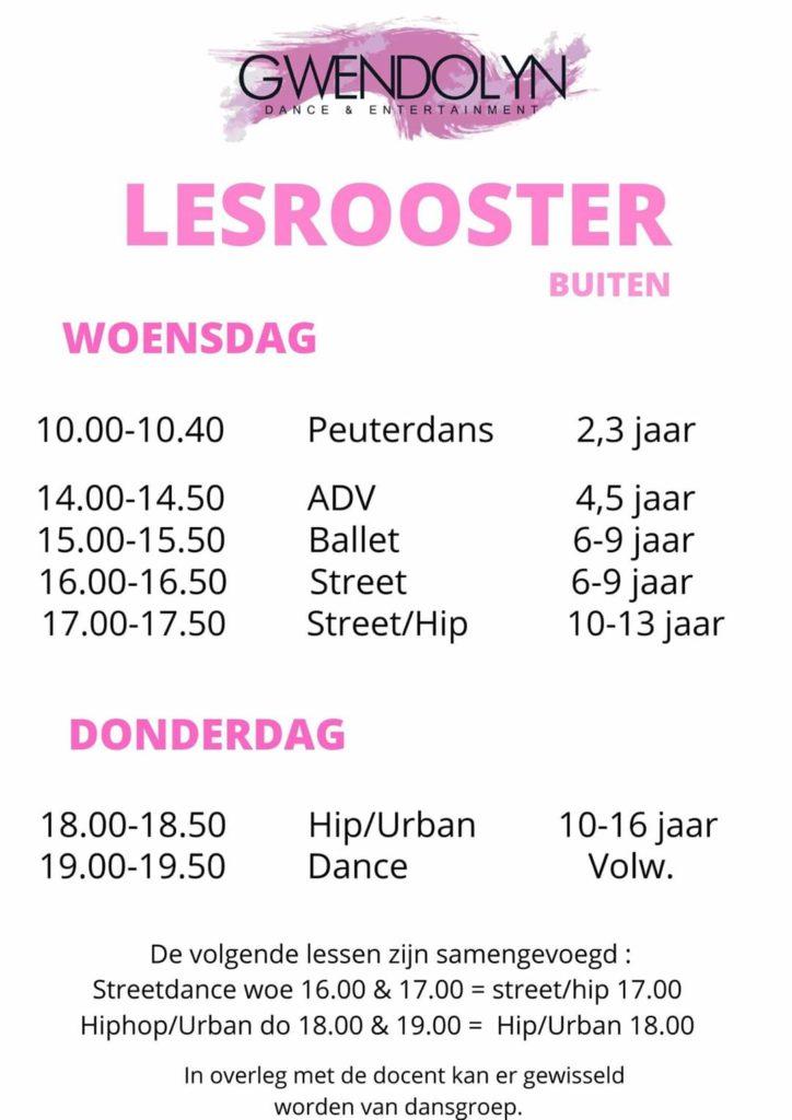 Dansschool Gwendolyn Danse & Entertainment dansen plein Diehuusplein Middelharnis rooster
