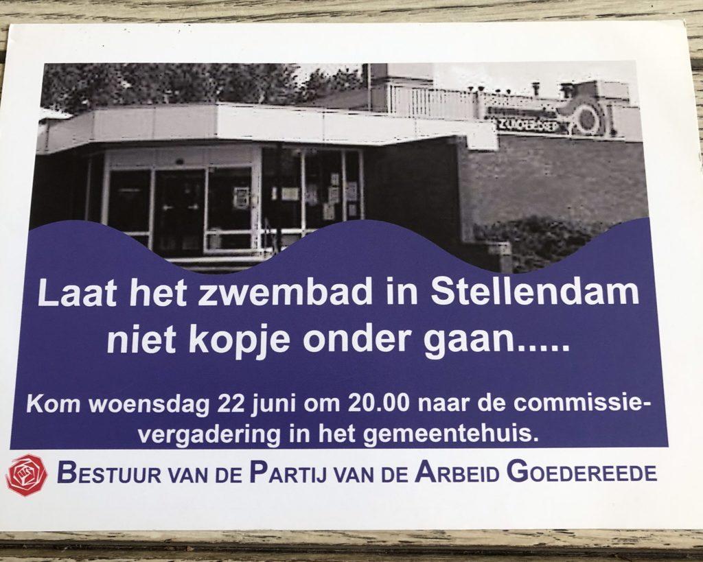 Zuiderdiep Stellendam behoud zwembad PvdA