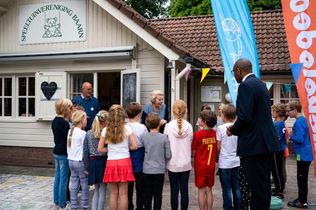 Prinses Beatrix opent Buitenspeeldag
