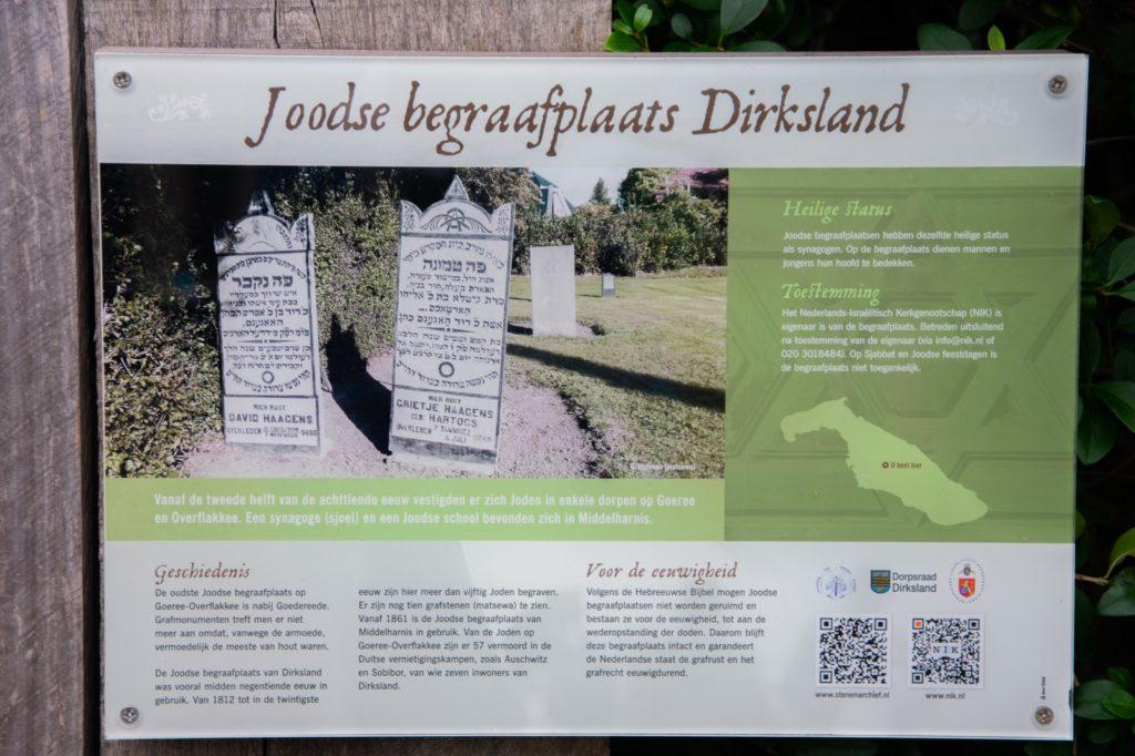 Onthulling infobord Joodse begraafplaats Dirksland