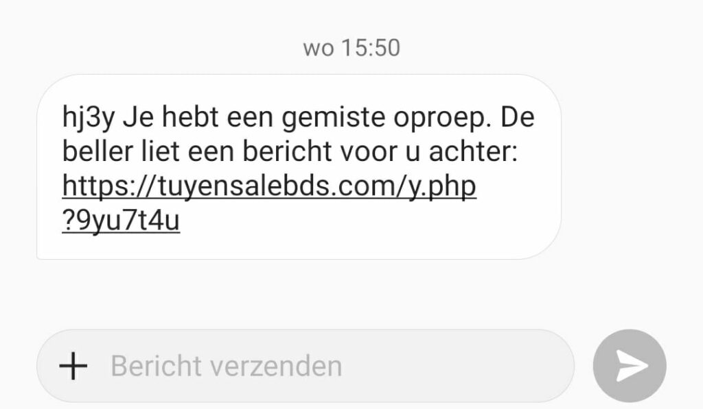 SMS fraude voicemail
