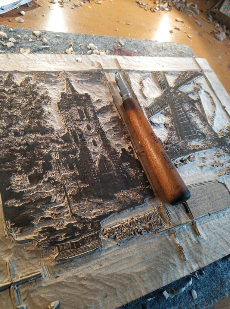 Nieuwe-Tonge in hout
