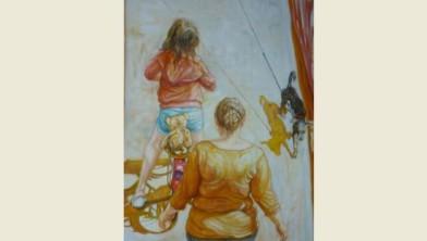 Schilderij Rikus van der Meer