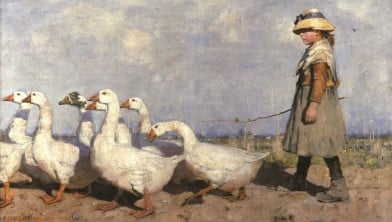 Werk van James Guthrie, een van The Glasgow Boys