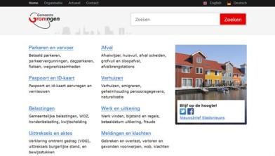 Vernieuwde website gemeente Groningen