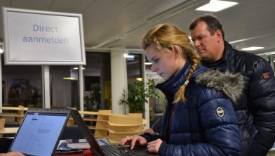 Karlijn meldt zich aan voor Mediavormgever