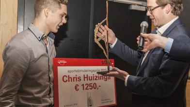 Chris Huizinga wint sportstimuleringsprijs 2015