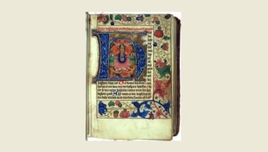 Bladzijde uit het Getijdenboek uit het Benedictijnerklooster te Selwerd