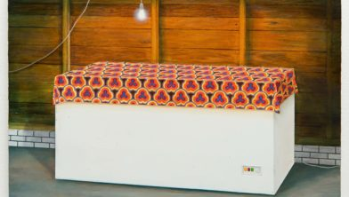Thijs Jansen, 2015, Koel bewaren, 30 x 37,5 cm, olieverf op paneel.
