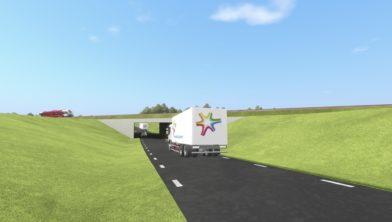 Impressie tunnel Bedum