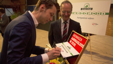 Ondertekening overeenkomst Green Deal 'Aardgasloze wijken'