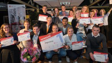 De winnende teams Alfa-college Ondernemers Award 2016