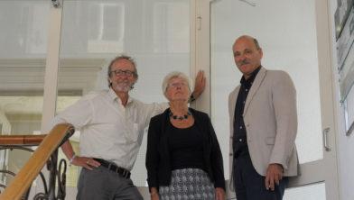 De beoordelingscommissie, vlnr Peter Molter, Betty Meyboom-De Jong, Hugo Klomp.