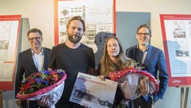 De prijswinnaars Ard de Vries en Donna van Milligen Bielke.