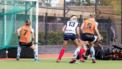 Anne van Erp scoort 3-3 in laatste seconden.